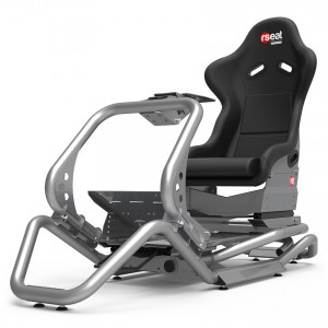 Rseat N1 Black Seat / Silver Frame Racing Simulator Cockpit