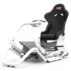 Rseat N1 Black Seat / White Frame