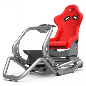 Rseat N1 Red Seat / Silver Frame Racing Simulator Cockpit