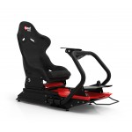 Rseat S1 Alcantara® Seat /Red Frame Racing Simulator Cockpit