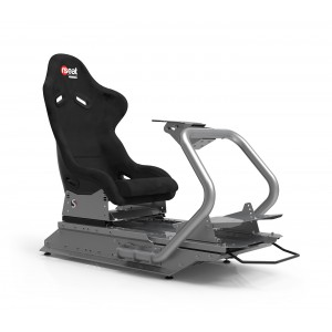 Rseat S1 Black Seat / Silver Frame Racing Simulator Cockpit