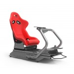 Rseat S1 Red Seat / Silver Frame