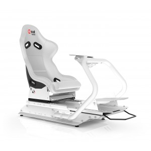 Rseat S1 White Seat / White Frame Racing Simulator Cockpit