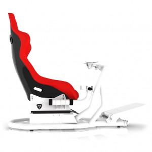 RSEAT RS1 Red Seat / White Frame Racing Simulator Cockpit