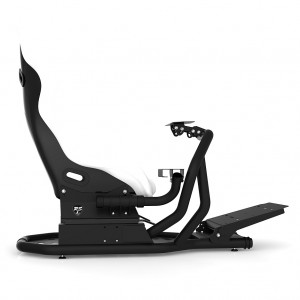 RSEAT RS1 White Seat / Black Frame Racing Simulator Cockpit